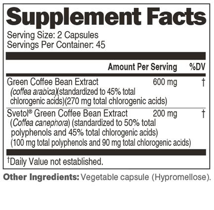 Genesis Today Green Coffee Bean Extract