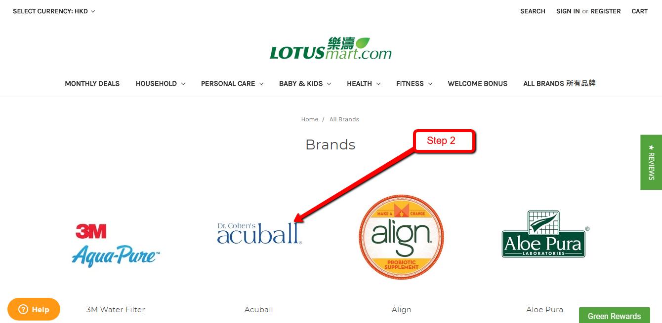 Order step-2 : Select Brand